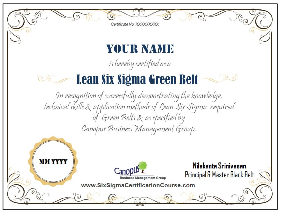 Outstanding Six Sigma Green Belt Certification Course Crest Online