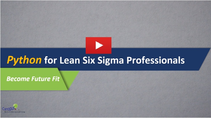Python for Lean Six Sigma Professionals