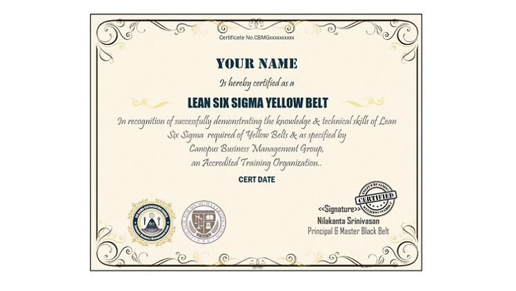 Six Sigma Yellow Certification Test